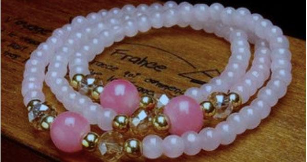 6fa25506b62c Paga $15.95 por Hermosas pulseras Triples hechas a mano en Crystal ...